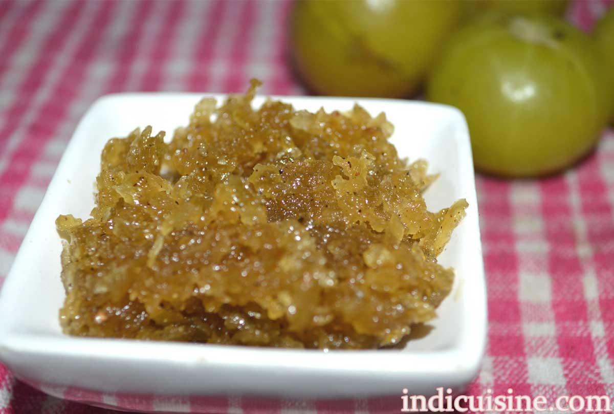 gooseberry (amla) jam, gooseberry sauce, amla jam recipe