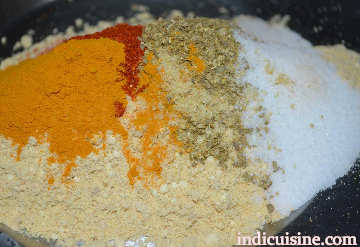 add-spices-in-gram-flour